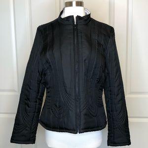 Tribal Brand 10 Silk Coat Black Silver Puffer Zip